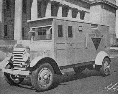 Armored Car for transporting valuables