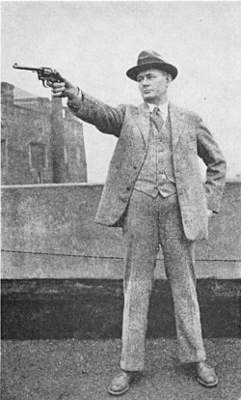 Captain J H Young revolver firing position