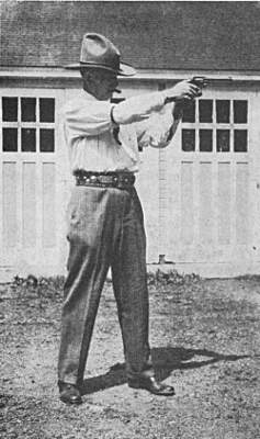 Two Handed Revolver Shooting Position