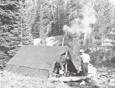 wall tent for big game hunting camp