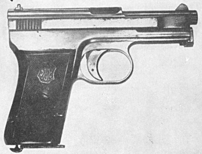 Mauser Automatic Pocket Pistol - Caliber  25 and  32 ACP