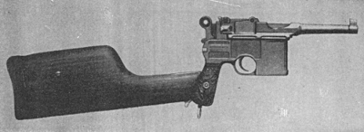 Mauser C96 automatic pistol short barrel shoulder stock