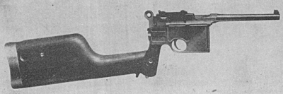 Mauser C96 automatic pistol shoulder stock