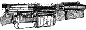 Mauser semiautomatic long recoil system phantom view