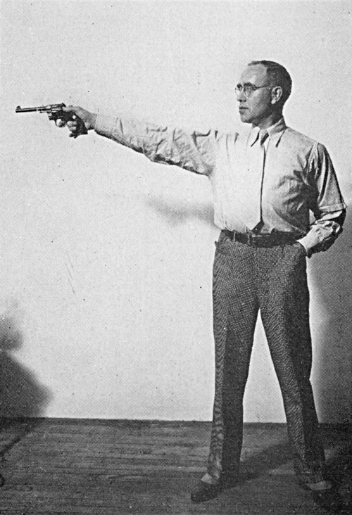 Wrong stance for target shooting