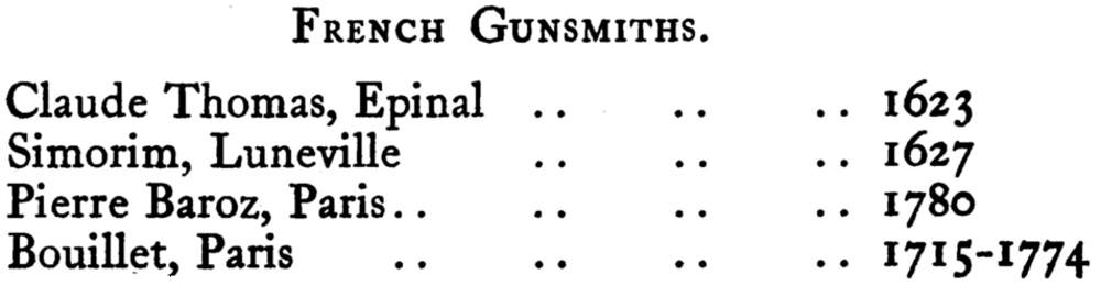 European Gunsmiths French