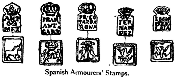 Spanish Armourers And Proof Marks
