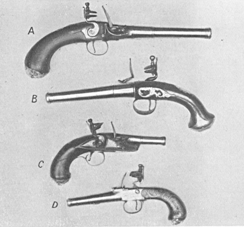 Queen anne pocket pistols flintlocks