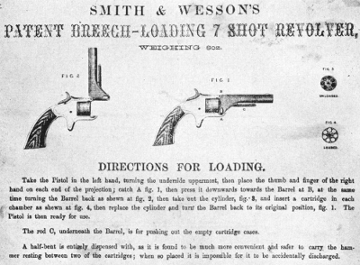 Directions for loading Tip-up smith & wesson second model