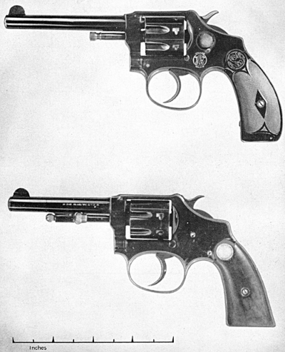 Smith & Wesson 22 caliber hand ejector first and third model
