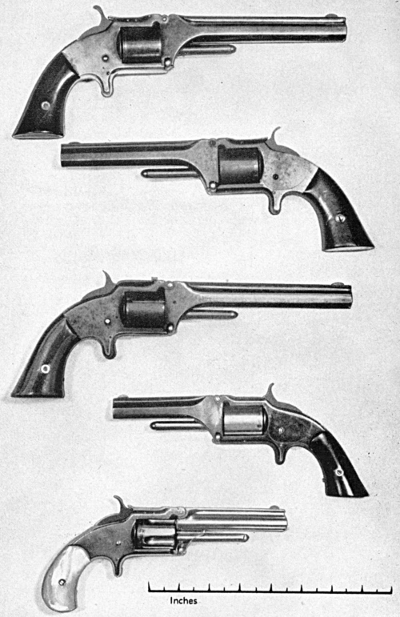 Smith & Wesson 32 rimfire tip-up revolvers first second and third model