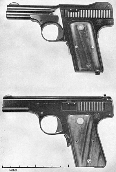Smith & Wesson automatics in 32 and 35 caliber