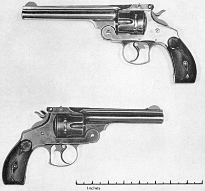 Smith & Wesson double action 44 frontier model and navy model 44-40 and 44 russian