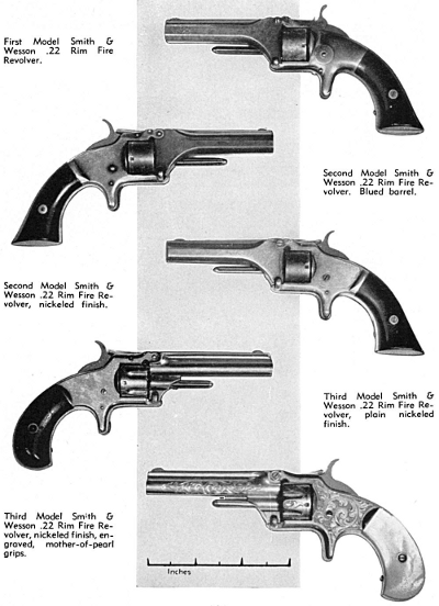 Smith & Wesson first second and third model 22 rimfires